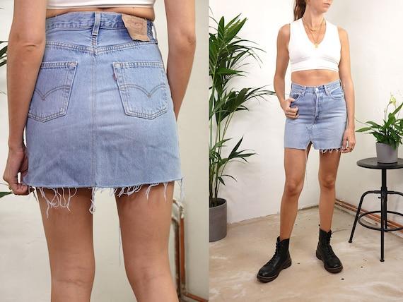 Levis Denim Skirt High Waist Skirt Levis Jean Skirt Denim Skirt Vintage Jean Skirt High Waisted Skirt Levis Retro Vintage Clothing R31