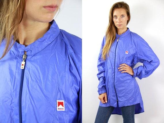 Blue Marlboro Jacket Marlboro Festival Jacket Rain Jacket Windbreaker Shell Jacket Festival Marlboro Raincoat Blue Windbreaker 90s Jacket