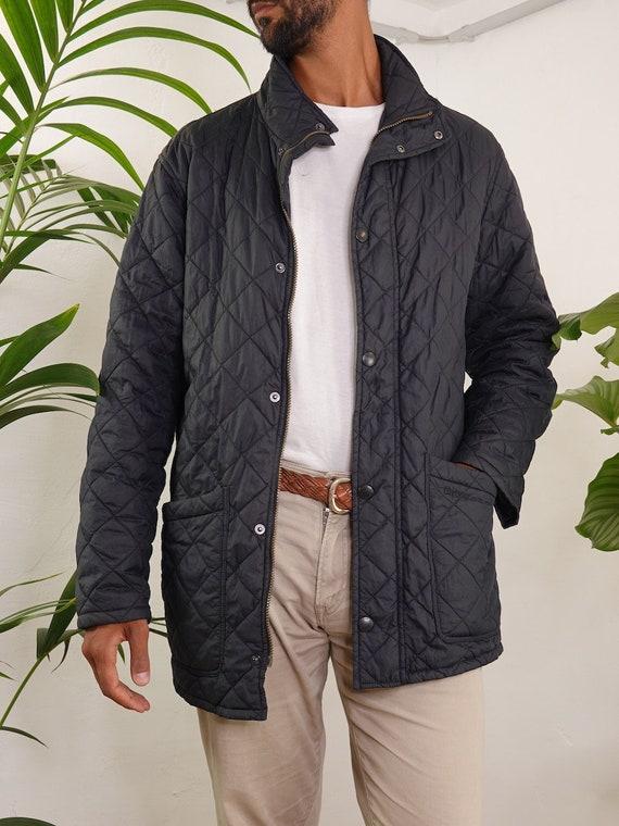 Barbour Jacket Black Quilted Barbour Coat Barbour… - image 2