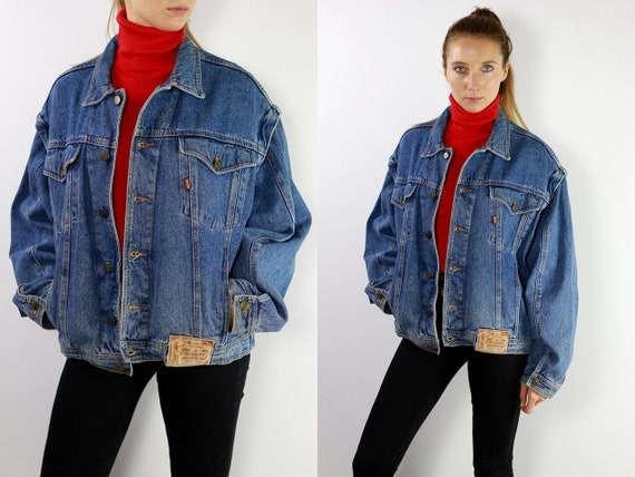 Jean Jacket 90s Denim Jacket Vintage Denim Jacket Oversize Denim Jacket 90s Jean Jacket Casucci Jean Jacket Large Denim Jacket Grunge 90 DJ8
