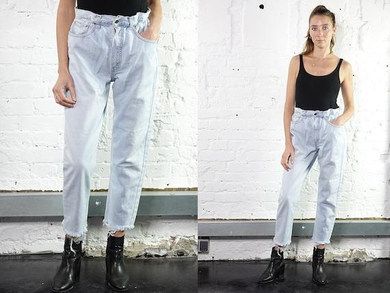 Levis Mom Jeans Levis Light Blue Levis Jeans Reworked  Levis Vintage Jeans  Levis 501 Jeans Mom Jeans High Waist Jeans Paperbag Pants RJ2
