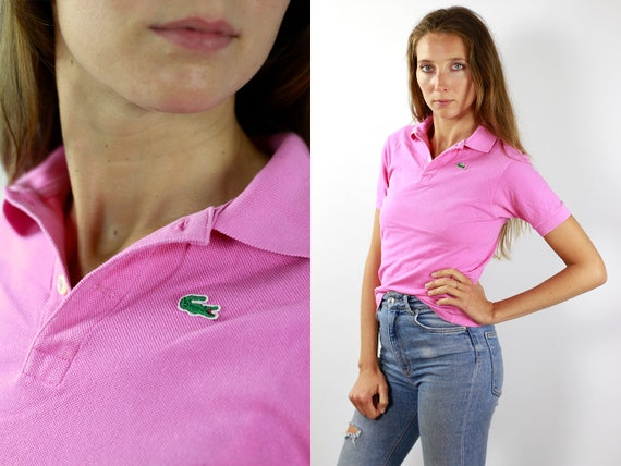 LACOSTE Polo Shirt Pink Lacoste Polo Shirt Lacoste Pink Polo Shirt Lacoste Vintage T Shirt Lacoste T-Shirt Pink Lacoste Shirt Poloshirt T174