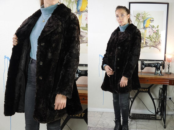 Shearling Coat Sheepskin Jacket Sheepskin Coat Shearling Jacket Vintage Shearling Coat Sherpa Coat Sherpa Jacket Brown Vintage Clothing SH31