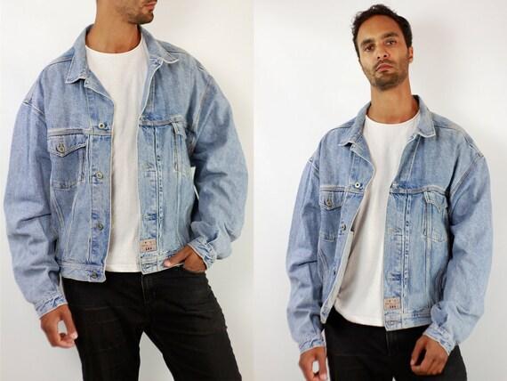 Denim Jacket Vintage Jacket Denim Jacket Oversize Jean Jacket 90s Denim Jacket 90s Jean Jacket Light Jean Jacket Large Denim Jacket JJ286