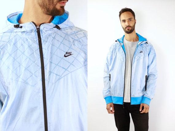 Nike Track Jacket Nike Windbreaker Nike Track Jacket Windbreaker Nike Jacket Nike Shell Jacket Nike Nylon Jacket Blue Retro Windbreaker Blue