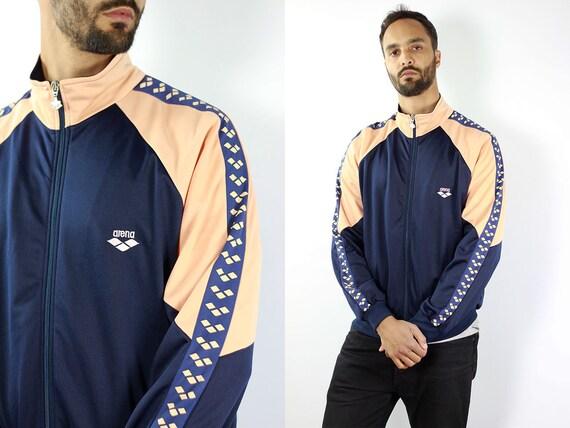 Vintage Windbreaker Taped Windbreaker Jacket 90s Windbreaker 90s Track Jacket Taped Track Jacket 90s Shell Jacket Taped Shell Jacket