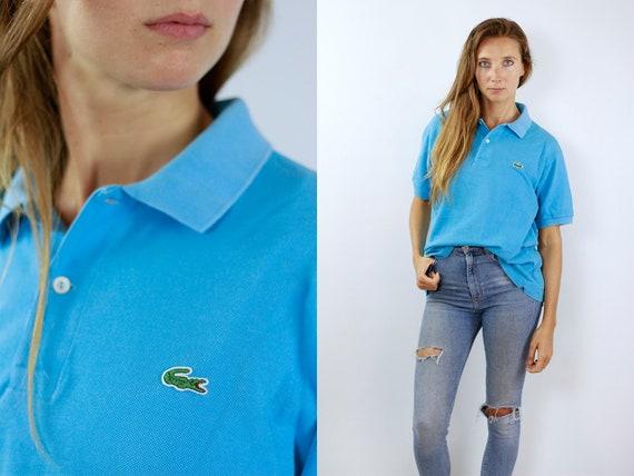 Lacoste Poloshirt Blue Poloshirt Lacoste Polo Shirt Vintage Lacoste Polo Shirt Lacoste Shirt Blue Polo Shirt Vintage Lacoste Shirt 90s