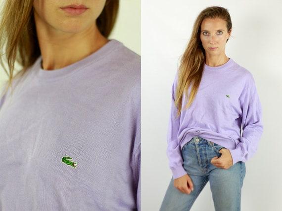 Lacoste Jumper Lacoste Sweater Lacoste Jumper Purple Lacoste Sweater Purple  Lacoste Vintage  Lacoste  Lacoste Wool Jumper WP85