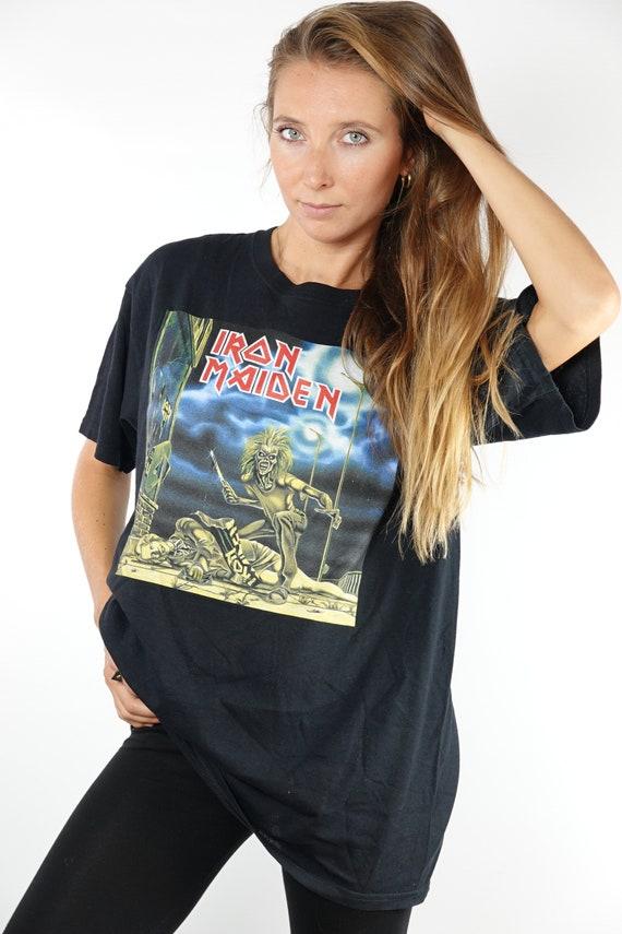 Vintage T-Shirt Iron Maiden Shirt Iron Maiden Top 90s Shirt Band T-Shirt Vintage Iron Maiden T-Shirt 90s Metal Shirt Iron Maiden Retro T57