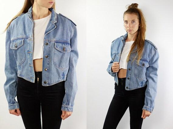 Denim Jacket Vintage Denim Jacket Grunge Jean Jacket Denim Jackets Jean Jacket Blue Jean Jacket Small Denim Jacket Grunge Jacket JJ201
