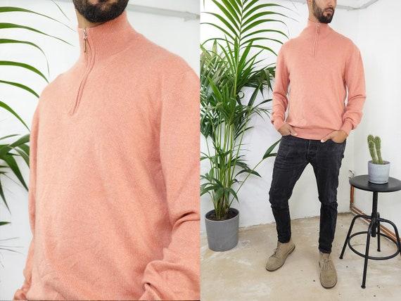 Cashmere Jumper Cashmere Sweater Turtle Neck Jumper Wool Sweater Oversize Jumper orange Sweater Vintage Clothing Second Hand WP203