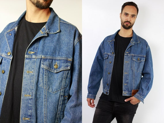 80s Denim Jacket Vintage Denim Jacket Jean Jacket Vintage Jean Jacket Vintage Clothing Mens Clothing Oversize Jacket Vintage Clothing DJ103