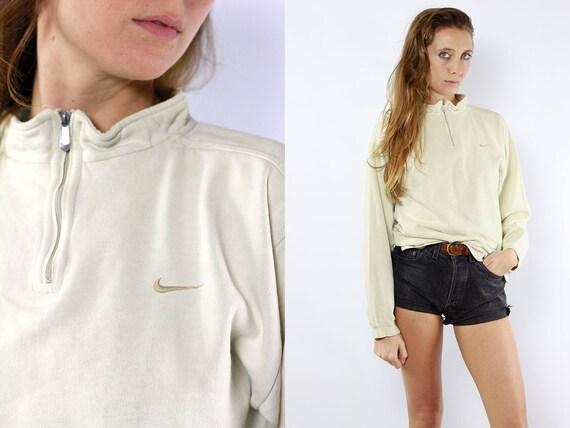 Nike Sweatshirt Nike Jumper Nike Hoodie Vintage Sweatshirt 90s Sweatshirt Vintage Jumper 90s Jumper Nike Hoodie Beige Sweatshirt Beige