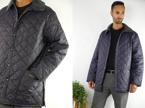 Barbour Coat Barbour Jacket Blue Barbour Coat Barbour Vintage Coat Vintage Barbour Jacket Blue Barbour Jacket Quilted Barbour Eskdale CO86