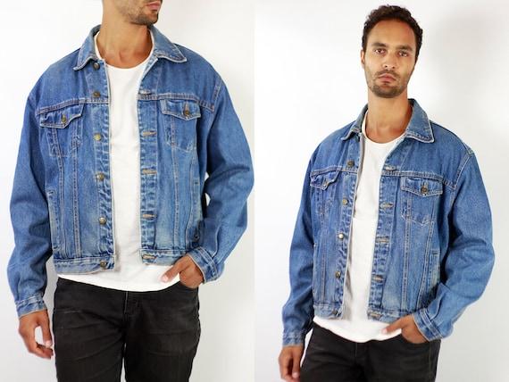 Denim Jacket Vintage Denim Jacket Oversize Jean Jacket 90s Denim Jacket 90s Jean Jacket Blue Jean Jacket Large Denim Jacket Grunge JJ251