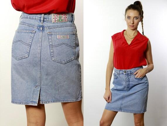 Casucci Jean Skirt / Casucci Denim Skirt / Vintage Denim Skirt / Vintage Jean Skirt / High Waist Skirt  High Waisted Skirt Levis Retro  R10