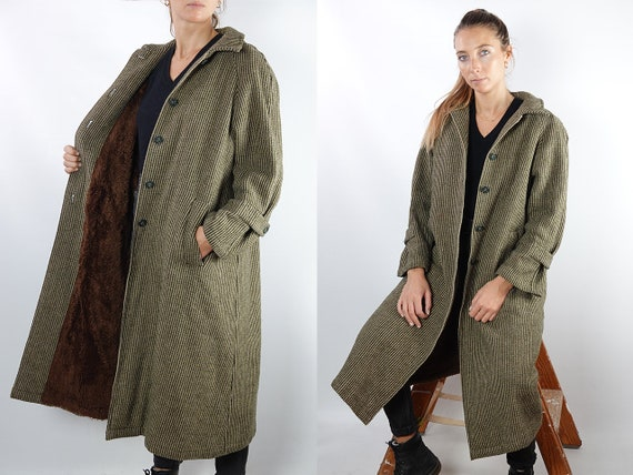 Vintage Coat Vintage Wool Coat Brown Vintage Coat 80s Wool Coat Winter Coat Warm Vintage Clothing Wool Coat Lined Womens Coat Small CO120