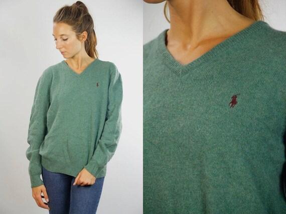Polo Ralph Lauren / Ralph Lauren Jumper / Ralph Lauren Sweater / Lambs Wool / Vintage Wool Jumper / Vintage Wool Sweater / Wool Jumper