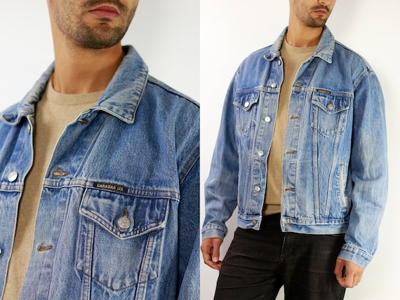 CARRERA Denim Jacket Mens Jean Jacket Carrera Denim Jacket Blue Jean Jacket Men Grunge Jacket Vintage Denim Jacket Denim Jacket Denim DJ12