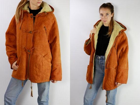 Shearling Jacket / Shearling Coat / Shearling / Sheepskin Jacket / Sheepskin Coat / Sheepskin Suede Jacket Suede Coat Brown Suede Coat WLM15