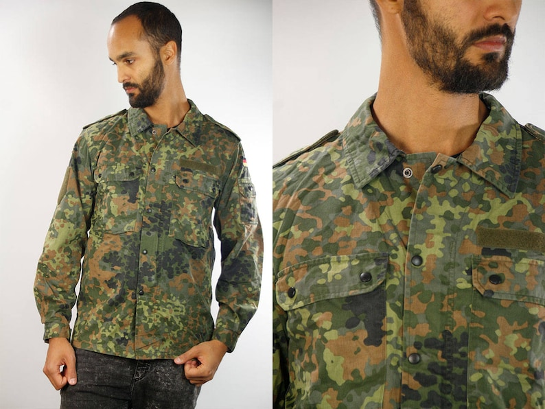 bb36c1c1 Camouflage Shirt / Camo Shirt / Camo Button up / Button Shirt | Etsy