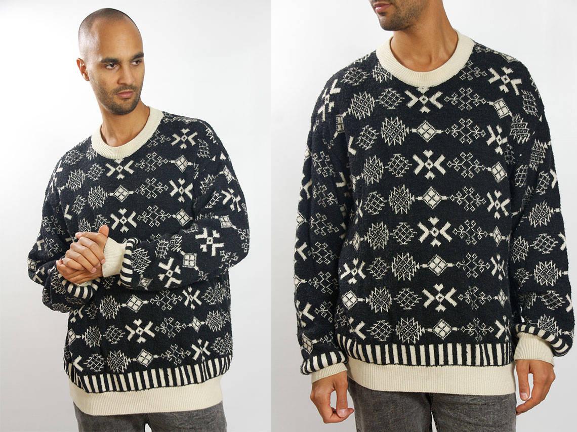 Tribal Sweater Men Tribal Sweater Oversized Tribal Sweater