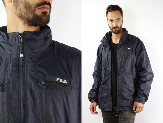 Black Fila Jacket Fila 90s Jacket Fila Windbreaker Fila Shell Jacket Vintage Fila Windbreaker Fila Windbreaker Vintage Windbreaker Fila J119