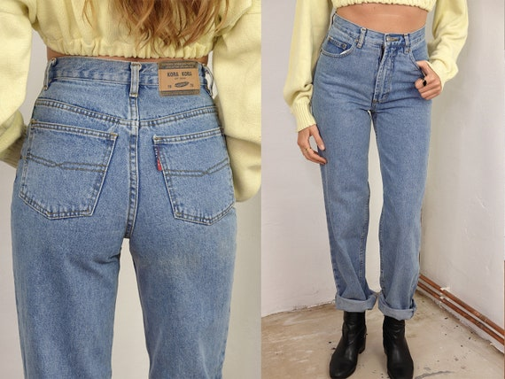 Vintage Mom Jeans Blue Mom Jeans High Waist Jeans High Waisted Jeans Vintage Jeans Vintage Blue Jeans 80s Jeans Vintage Clothing