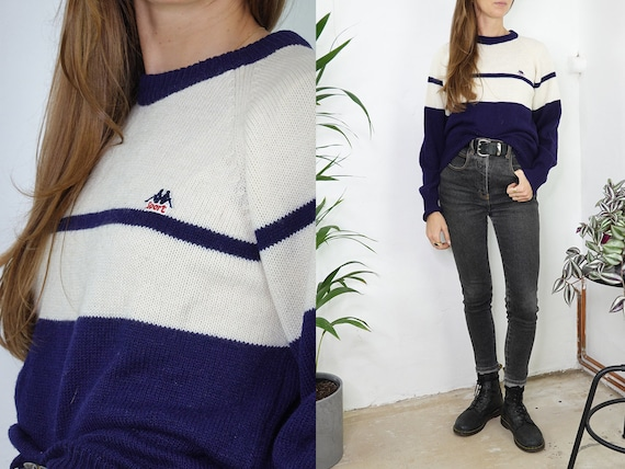 Vintage Wool Jumper Vintage Wool Sweater Striped Jumper Oversize Sweater Warm Wool Jumper Second Hand Womens Clothing Vintage Fashion WP255
