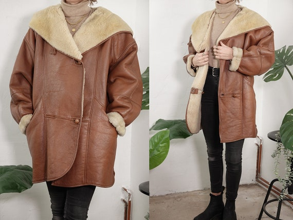 Shearling Coat Sheepskin Jacket Shearling Jacket V