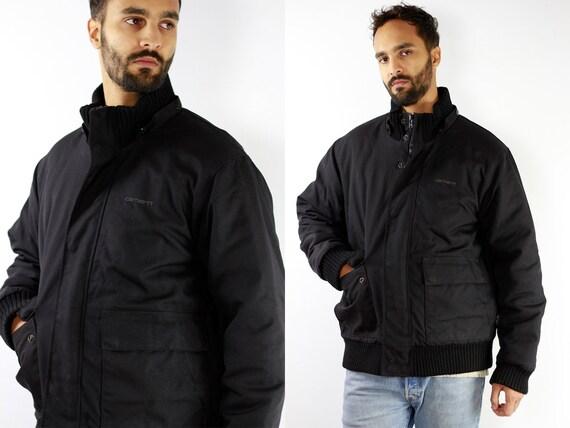 Carhartt Jacket Carhatt Black Jacket 90s Winter Jacket Black Winter Jacket Vintage Puffer Jacket Black Puffer Jacket Vintage Streetwear JA16