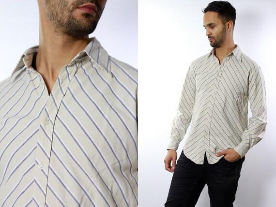 Sergio Tacchini Shirt Sergio Tacchini Top 90s Shirt Striped Shirt Sergio Tacchini Shirts Vintage Button Vintage Shirt Striped Blue Top HE17