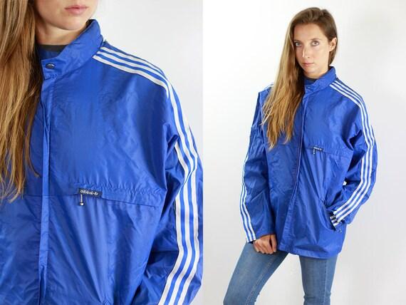 Adidas Shell Jacket Adidas Rain Jacket Blue Adidas Windbreaker Adidas Festival Jacket Adidas Jacket Vintage Windbreaker Adidas Jacket Adidas