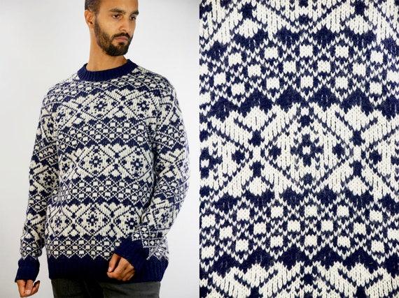 Nordic Wool Sweater / Nordic Wool Jumper / Skandinavian Jumper / Skandinavian Sweater / Norwegian Jumper / Norwegian Sweater / Wool Sweater