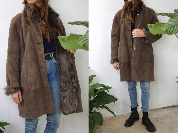Shearling Coat Sheepskin Jacket Sheepskin Coat She