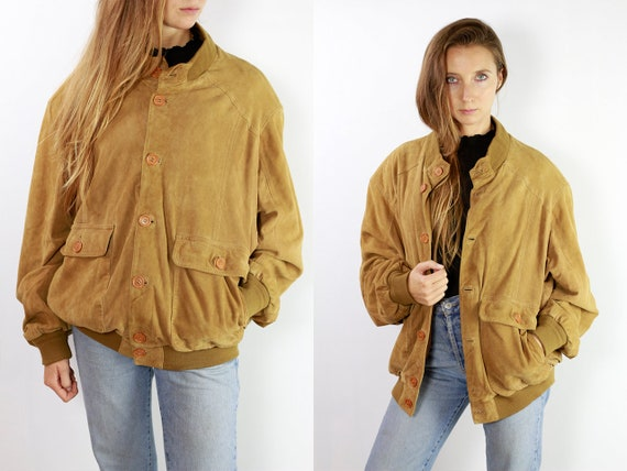 Suede Jacket, Womens Suede Jacket, Vintage Suede Jacket, Suede Bomber Jacket, Suede Jacket Brown, Leather Jacket Women SUJ11