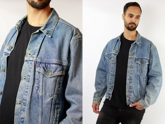 Levis Denim Jacket Vintage Levis Oversize Jean Jacket Large Denim Jacket Levis Jean Jacket Blue Denim Jacket Vintage Clothing DJ112