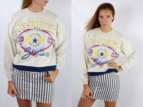 Vintage Sweatshirt Oversize Sweatshirt Beige Sweatshirt Vintage Jumper Oversize Jumper 90s Sweatshirt 90s Jumper Beige Jumper Streetwear 206