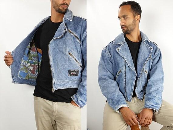 Denim Jacket Vintage Jean Jacket Denim Jacket Blue Jean Jacket Men Grunge Jacket Vintage Denim Jacket Denim Jackets 90s Denim Jacket DJ157