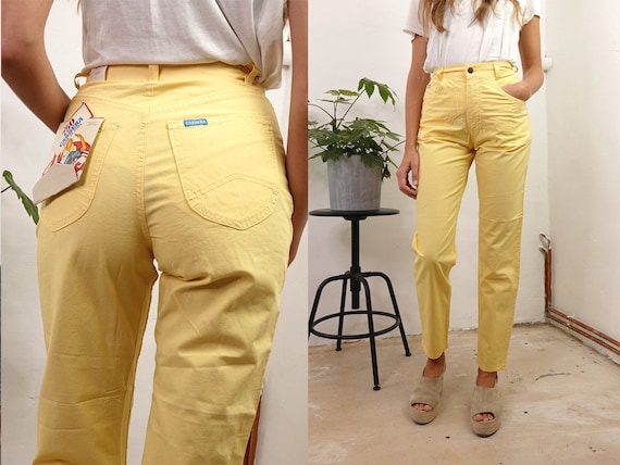 High Waist Trousers High Waisted Trousers High Waist Pants Carrera Pants Linen Trousers Women Trousers Women Pants Vintage Clothing HS47