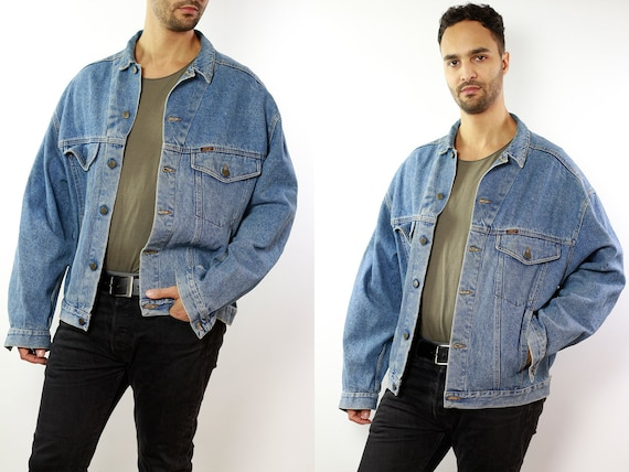 Denim Jacket Vintage Jacket Denim Jacket Oversize Jean Jacket 90s Denim Jacket 90s Jean Jacket Light Jean Jacket Large Denim Jacket DJ48
