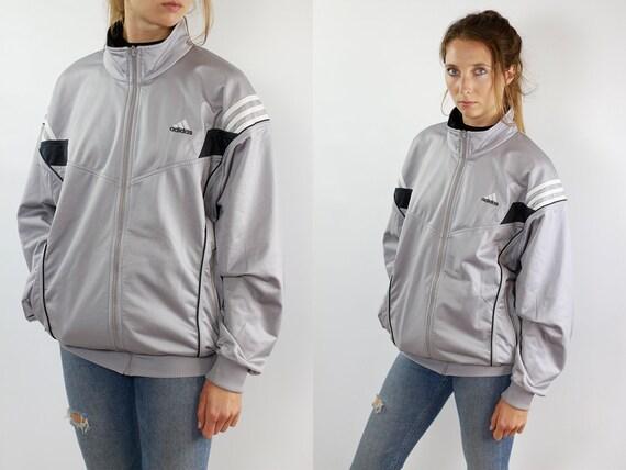 Vintage Windbreaker Adidas Jacket Windbreaker 90s Windbreaker Vintage Adidas Track Jacket Adidas Shell Jacket Adidas Jacket Grey Tracksuit