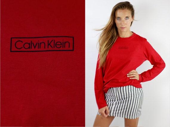 Calvin Klein Jumper Calvin Klein Sweater Calvin Klein 90s Vintage Sweatshirt 90s Sweatshirt 90s Jumper Vintage Jumper Red Jumper SW200
