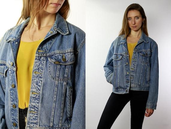 Lee Jean Jacket Lee Denim Jacket Lee Jacket Vintage Denim Jacket Vintage Jean Jacket Blue Denim Jacket Blue JeanJacket 80s Jean Jacket DJ51