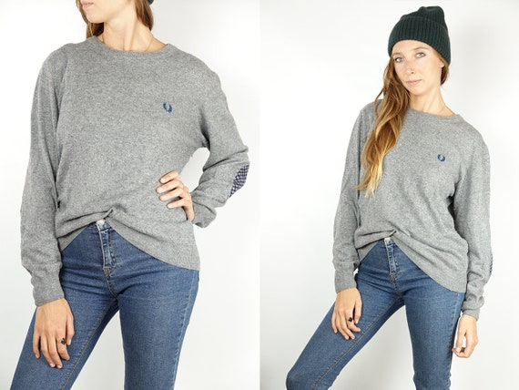 FRED PERRY Sweater Fred Perry Sweatshirt Fred Perry Jumper Vintage Wool Sweater Vintage Wool Jumper Knitted Jumper Vintage Clothing WP64