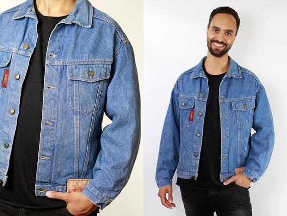 Vintage Denim Jacket Denim Jacket Jean Jacket Vintage Jean Jacket Vintage Clothing Mens Clothing 80s Denim Jacket Oversize Jean Jacket DJ102