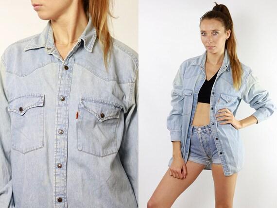 Levis Shirt Levi Jean Shirt Levis Denim Shirt Button Down Shirt Levis Jean Shirt  Womens Shirt Hipster Shirt Work Shirt Blue Jean Shirt JH9