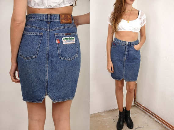 80s Denim SKIRT High Waist Vintage Denim Skirt 80s Skirt Pencil Skirt Denim Mini Skirt Jean Skirt High Waist Womens Clothing Vintage R21
