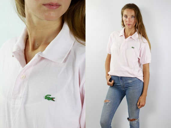 LACOSTE Polo Shirt Pink Lacoste Polo Shirt Lacoste Pink Polo Shirt Lacoste Vintage T Shirt Lacoste T-Shirt Pink Lacoste Shirt 90s Poloshirt