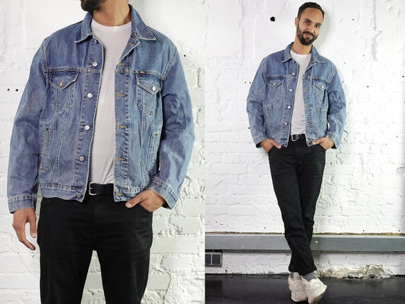 Denim Jacket Jean Jacket Vintage Denim Jacket Vintage Jean Jacket Vintage Clothing Mens Clothing 80s Denim Jacket Oversize Jean Jacket DJ205
